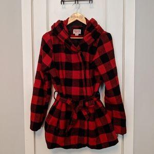 Buffalo Check Red and Black Coat